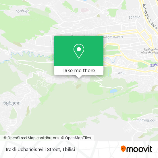 Irakli Uchaneishvili Street map