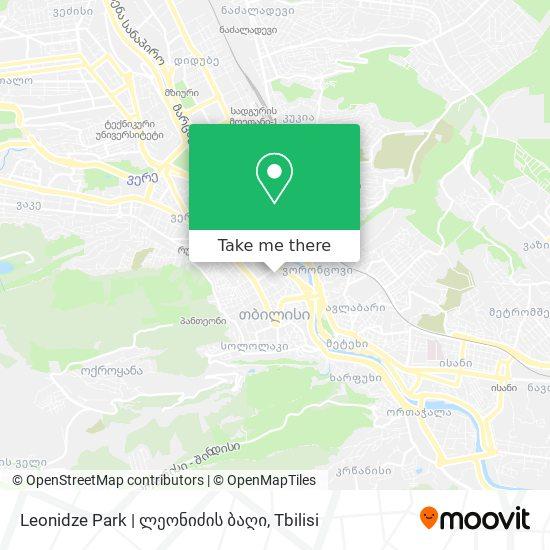 Leonidze Park | ლეონიძის ბაღი map
