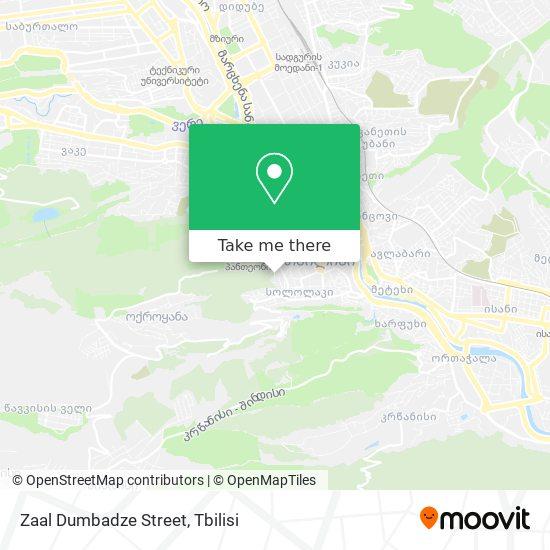 Zaal Dumbadze Street map
