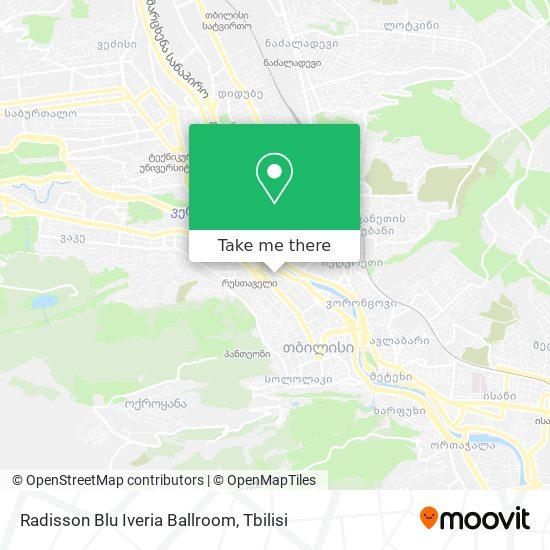 Radisson Blu Iveria Ballroom map