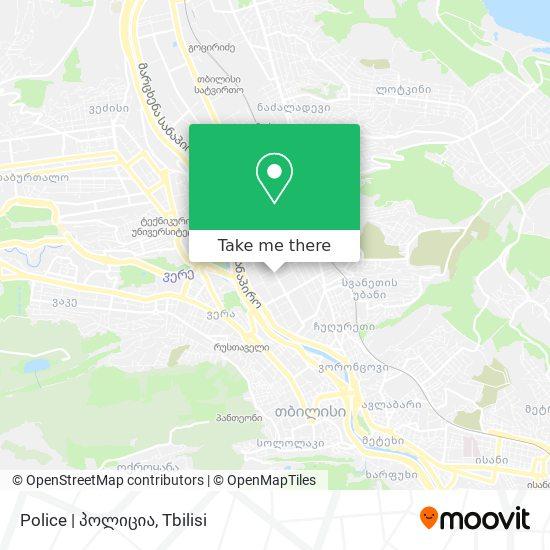 Police | პოლიცია map