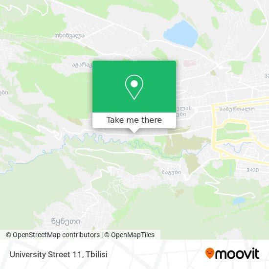 University Street 11 map