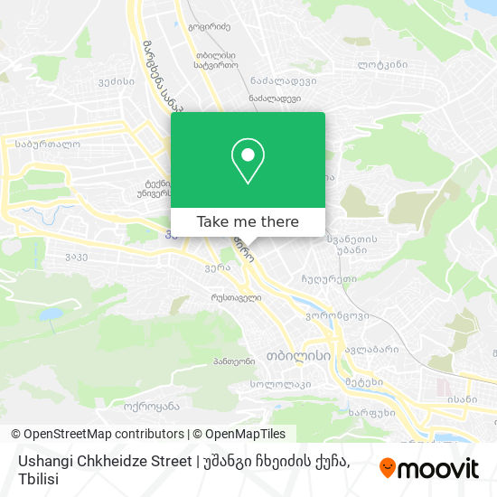 Ushangi Chkheidze Street   უშანგი ჩხეიძის ქუჩა map