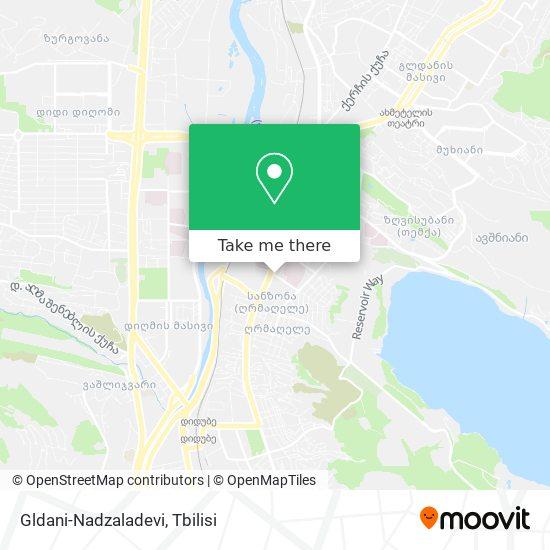 Gldani-Nadzaladevi map