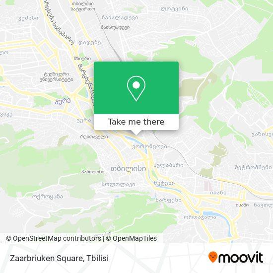 Zaarbriuken Square map