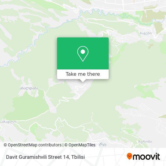 Davit Guramishvili Street 14 map