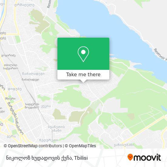 ნიკოლოზ ხუდადოვის ქუჩა map