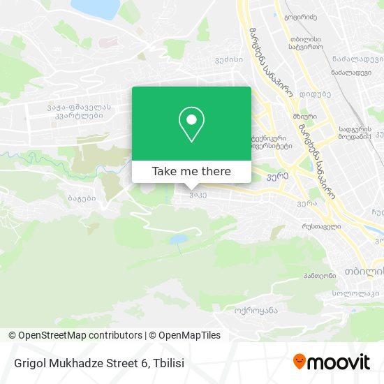 Grigol Mukhadze Street 6 map