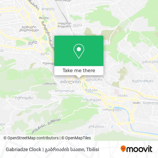 Gabriadze Clock   გაბრიაძის საათი map