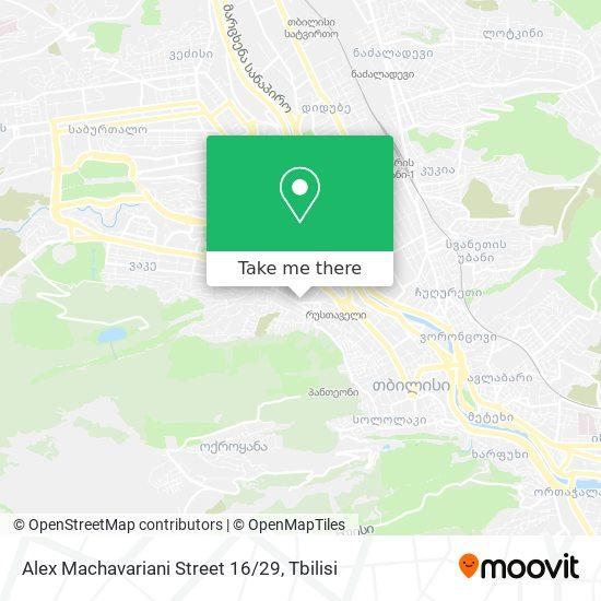 Alex Machavariani Street 16/29 map