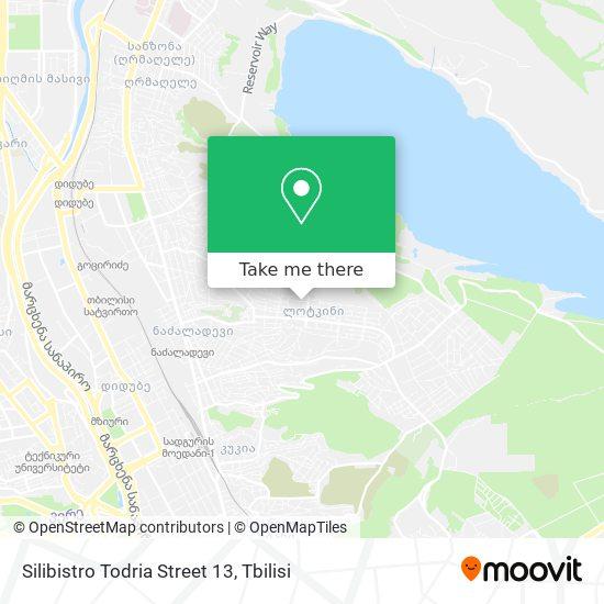 Silibistro Todria Street 13 map