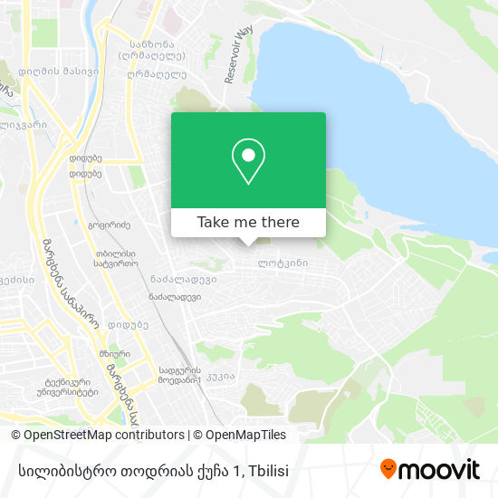 სილიბისტრო თოდრიას ქუჩა 1 map