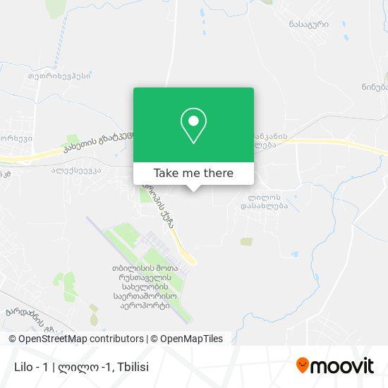 Lilo - 1 | ლილო -1 map