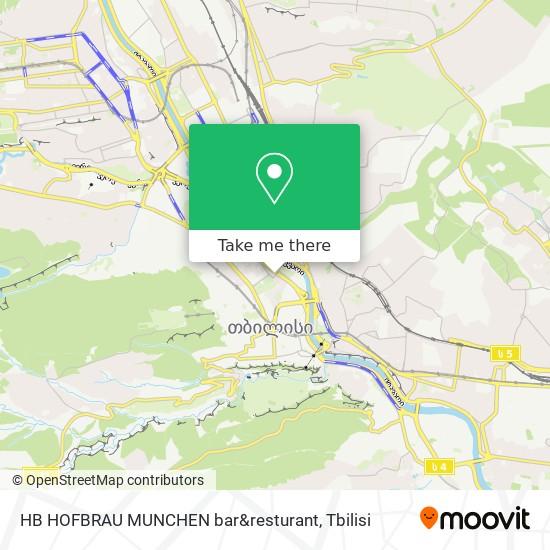 HB HOFBRAU MUNCHEN bar&resturant map