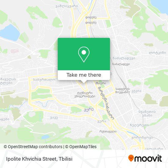 Ipolite Khvichia Street map