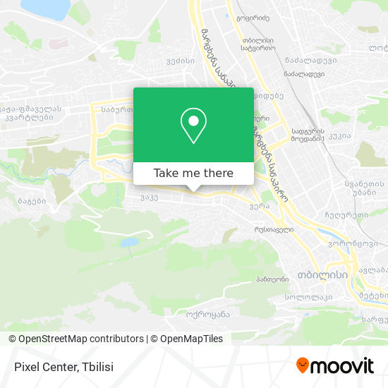 Pixel Center map