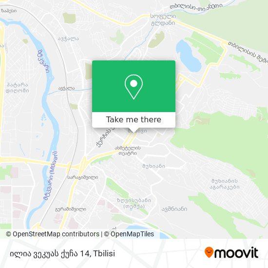 ილია ვეკუას ქუჩა 14 map