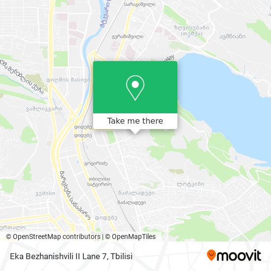 Eka Bezhanishvili II Lane 7 map