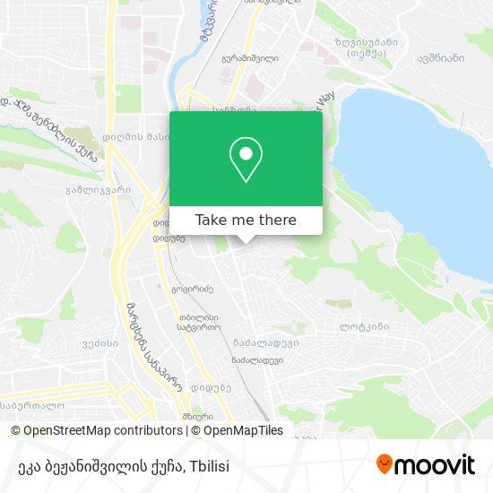 ეკა ბეჟანიშვილის ქუჩა map