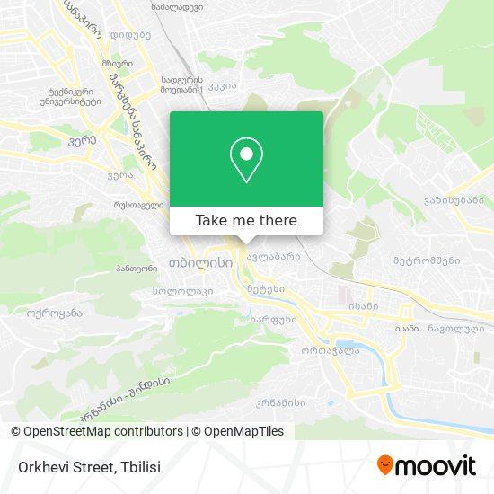Orkhevi Street map