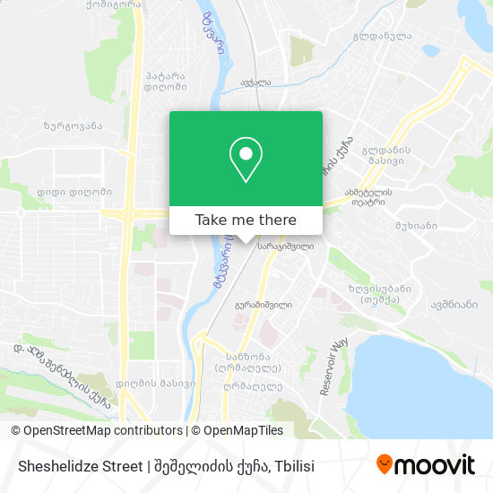 Sheshelidze Street   შეშელიძის ქუჩა map
