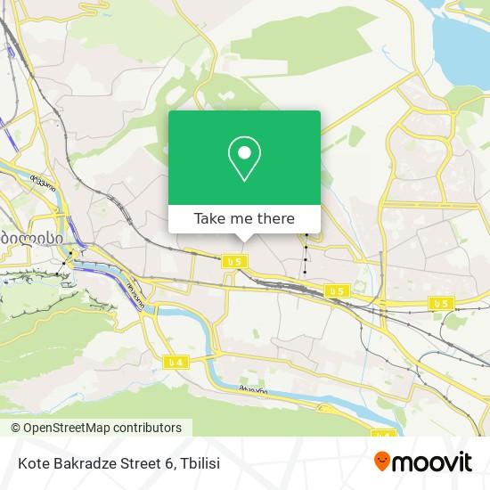 Kote Bakradze Street 6 map