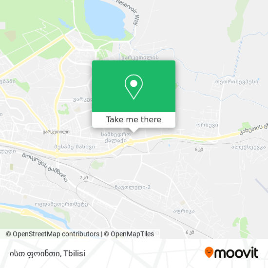ისთ ფოინთი map