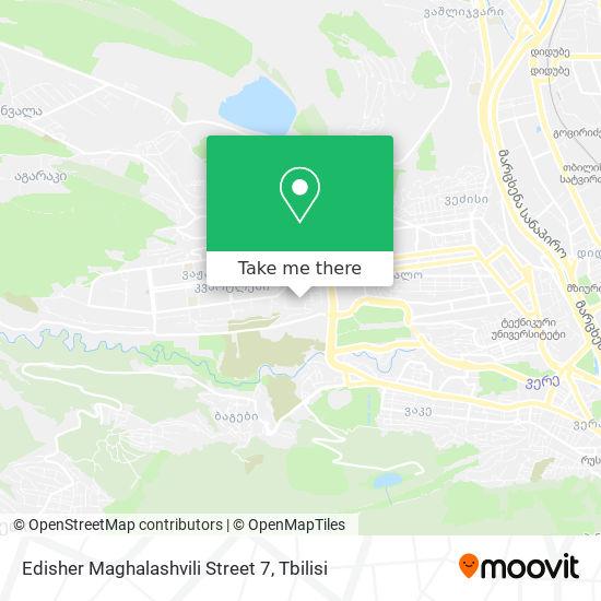 Edisher Maghalashvili Street 7 map
