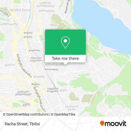 Racha Street map