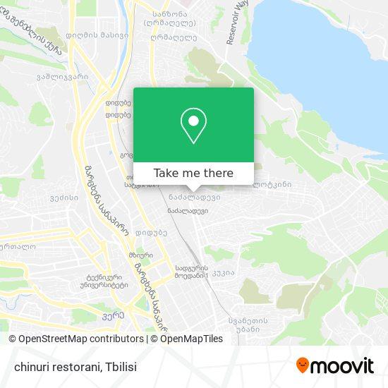 chinuri restorani map
