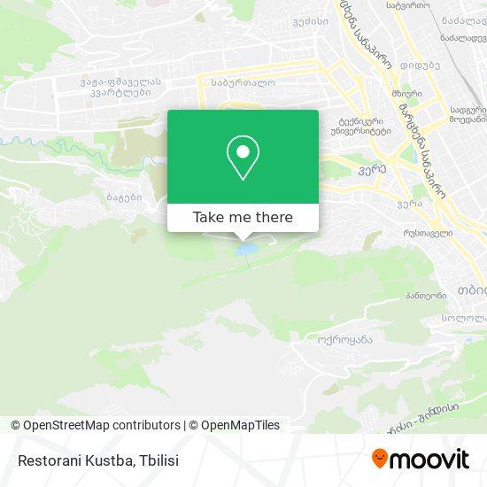 Restorani Kustba map