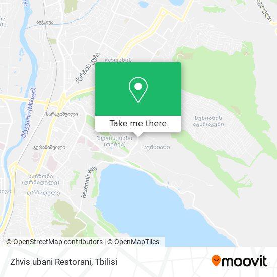 Zhvis ubani Restorani map