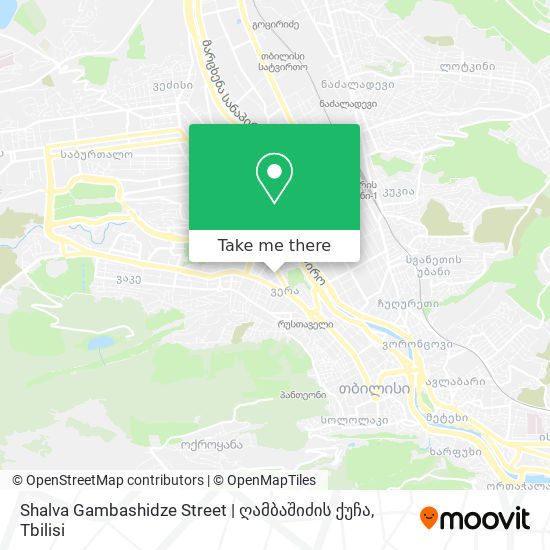 Shalva Gambashidze Street | ღამბაშიძის ქუჩა map