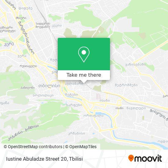 Iustine Abuladze Street 20 map