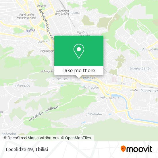 Leselidze 49 map