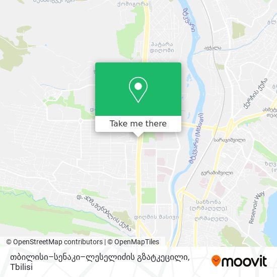 თბილისი–სენაკი–ლესელიძის გზატკეცილი map