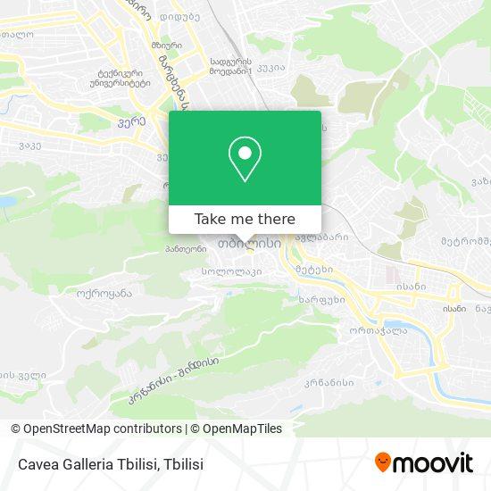 Cavea Galleria Tbilisi map