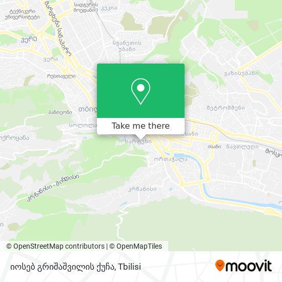 იოსებ გრიშაშვილის ქუჩა map