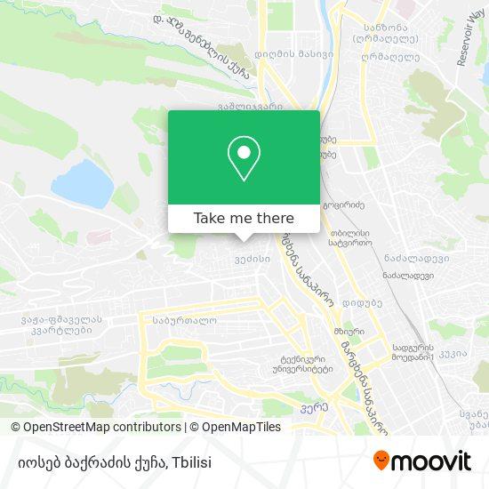 იოსებ ბაქრაძის ქუჩა map
