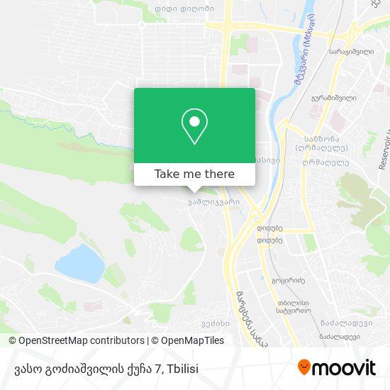 ვასო გოძიაშვილის ქუჩა 7 map