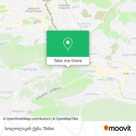 სოლოლაკის ქუჩა map