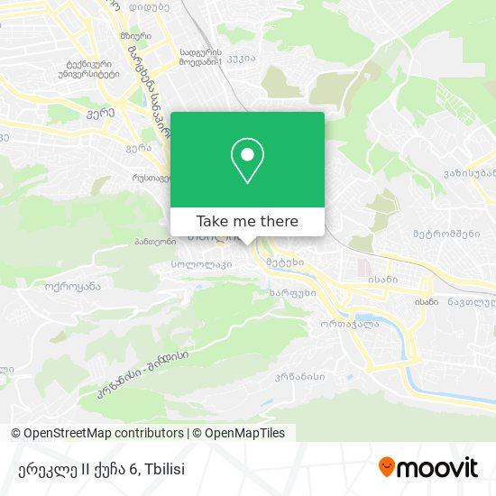 ერეკლე II ქუჩა 6 map