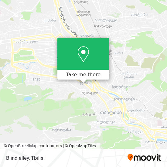 Blind alley map
