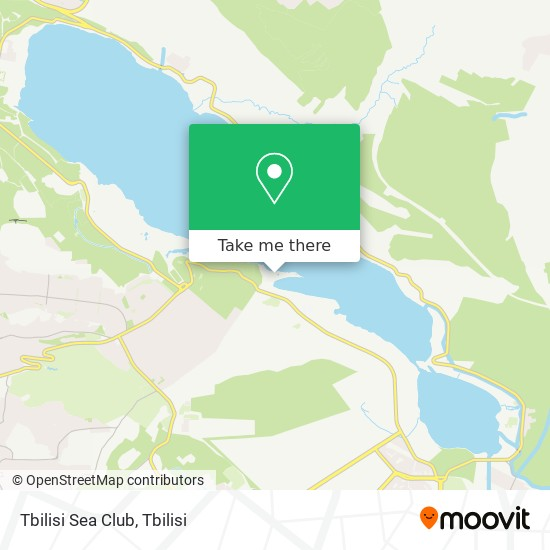 Tbilisi Sea Club map