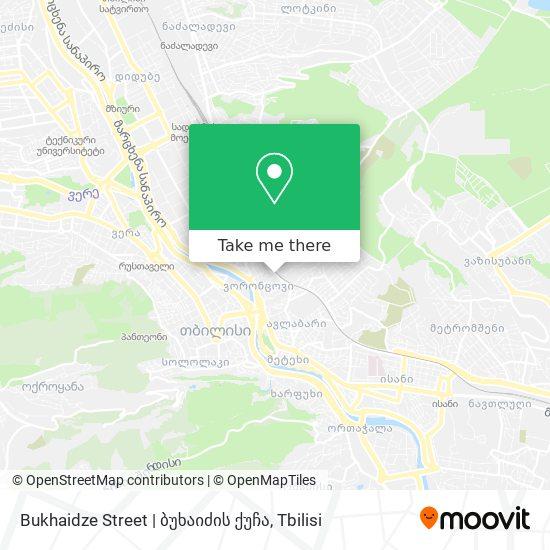 Bukhaidze Street   ბუხაიძის ქუჩა map