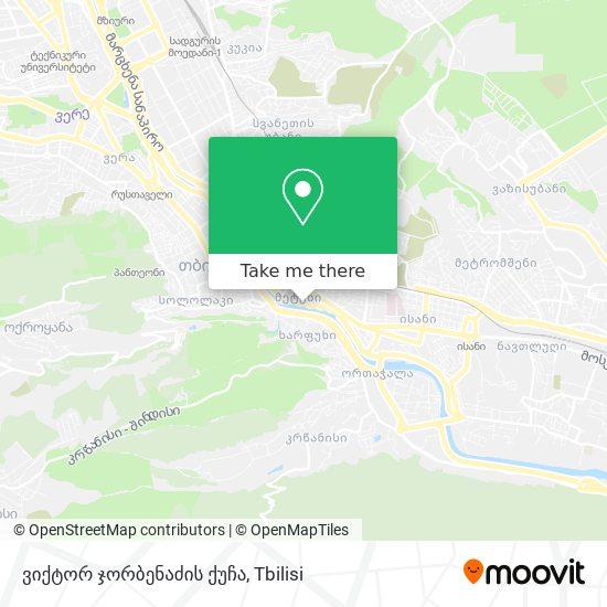 ვიქტორ ჯორბენაძის ქუჩა map