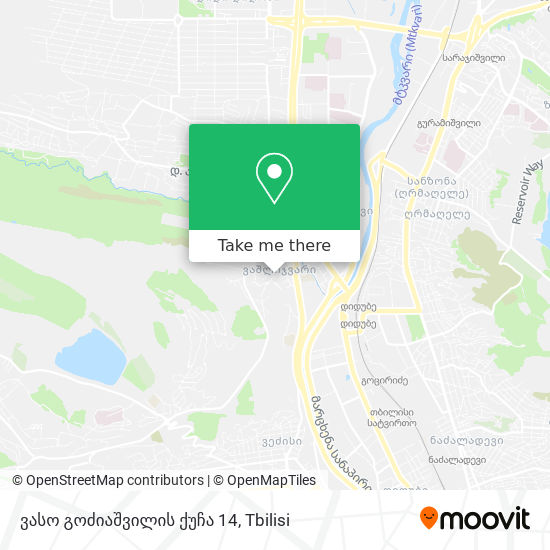 ვასო გოძიაშვილის ქუჩა 14 map