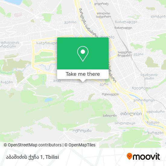 აბაშიძის ქუჩა 1 map