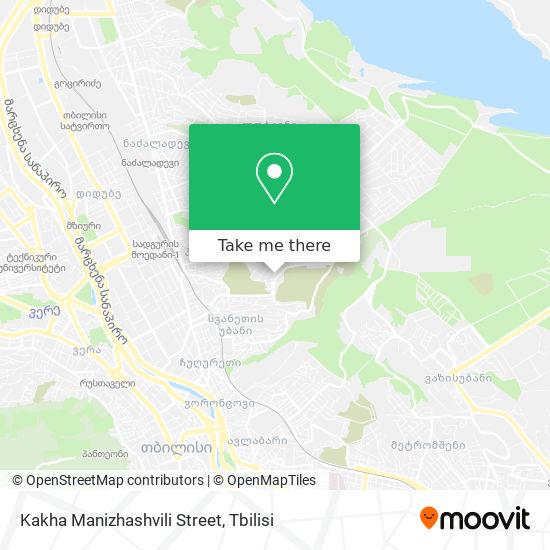 Kakha Manizhashvili Street map