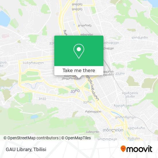 GAU Library map